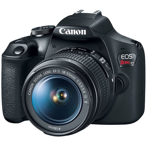 Canon EOS Rebel T7 Digital SLR Camera 18-55mm f/3.5-5.6 IS II Kit - (Renewed)