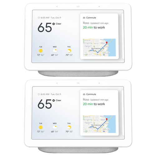 Google Nest Hub with Google Assistant Chalk 2 Pack