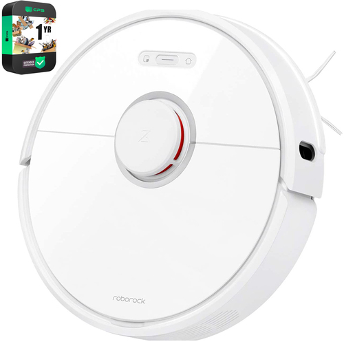 Roborock S6 Pure Robot Vacuum & Mop Cleaner, White w/ Warranty Bundle