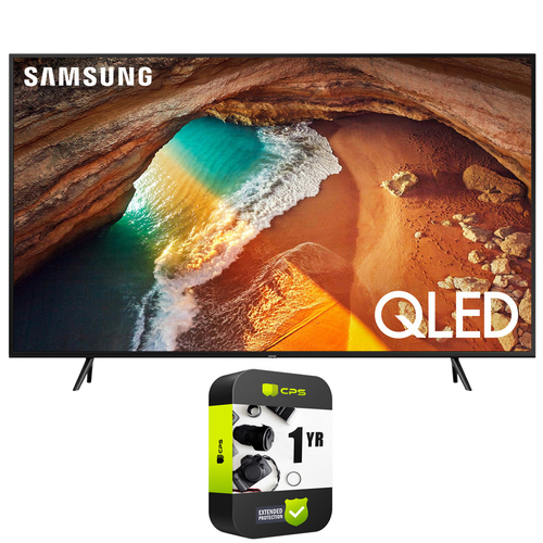 Samsung QN43Q60RA 43` Q60 QLED Smart 4K UHD TV (2019) - (Renewed) + Protection Plan