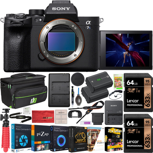 Sony a7s III Mirrorless 4K Camera Body + 128GB Accessory Kit + Bag & 2 Battery Bundle