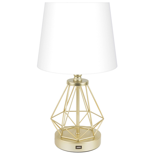 CO-Z Modern Table Lamp with USB Input & Touch On/Dim Control