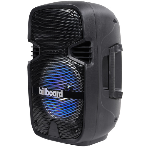 Billboard 8` Rechargeable Bluetooth Speaker for Parties RGB Lighting AUX/USB/TF CARD Play