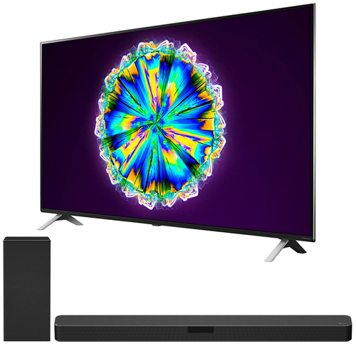 LG 55` 4K Smart UHD NanoCell TV w/ AI ThinQ (2020) + LG SN5Y Sound Bar Bundle