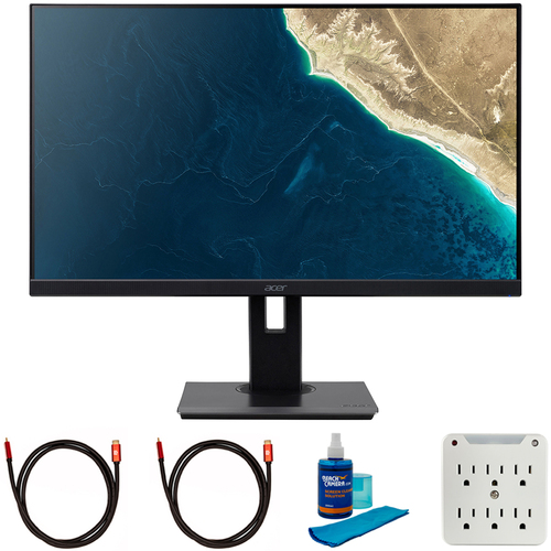 Acer V277U bmiipx 27` WQHD 2560x1440 16:9 IPS FreeSync Monitor + Cleaning Bundle