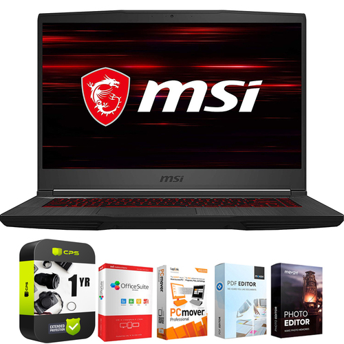 MSI GF65 15.6` Intel i5-9300H 8GB/512GB SSD Gaming Laptop +Protection Plan Pack