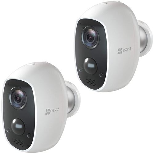 EZVIZ C3A Single WiFi Indoor/Outdoor Camera Two-Way Audio Night Vision 2 Pack