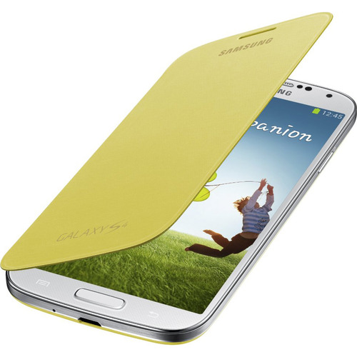 Samsung Galaxy S IV Flip Cover Yellow