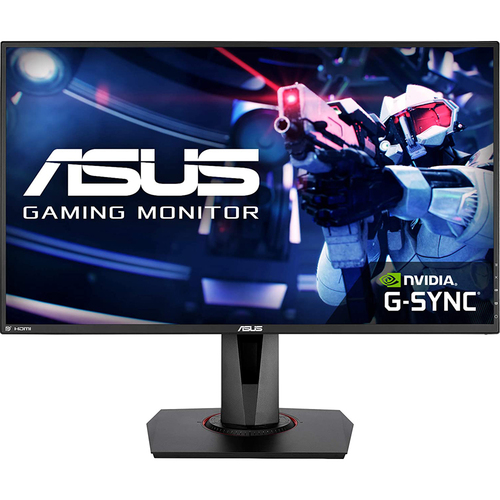 ASUS 27` Full HD 1080p 165Hz, 0.5ms, G-SYNC Compatible Gaming Monitor - VG278QR
