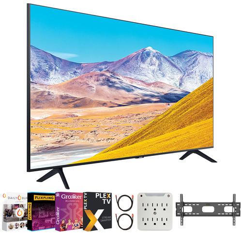 Samsung UN43TU8000 43` 4K Ultra HD Smart LED TV (2020 Model) + Movies Streaming Pack