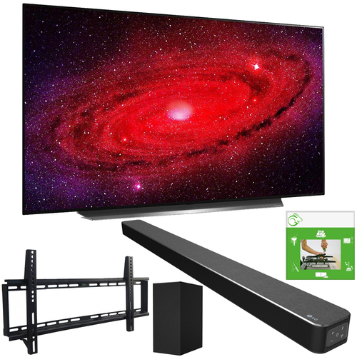 LG 65` CX 4K Smart OLED TV w/ AI ThinQ (2020) + LG SN6Y Sound Bar Bundle
