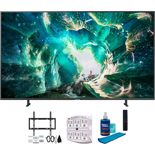 Samsung UN65RU8000 65` RU8000 LED Smart 4K UHD TV (2019) w/ Wall Mount Bundle