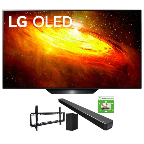 LG 65` BX 4K Smart OLED TV w/ AI ThinQ (2020 Model) + LG SN6Y Sound Bar Bundle