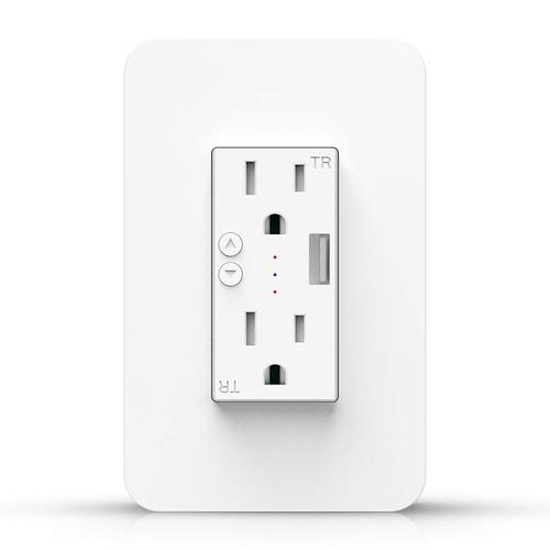 Smart WiFi Wall Outlet Plug, Compatible with Amazon Alexa and Google Assistant