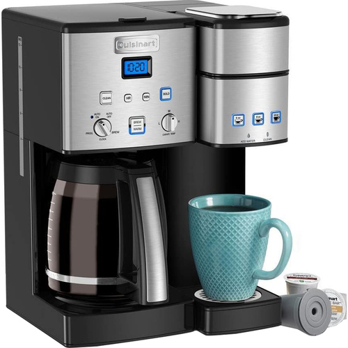 Cuisinart 12 Cup Coffeemaker and Single Serve Brewer Refurbished (SS-15FR)