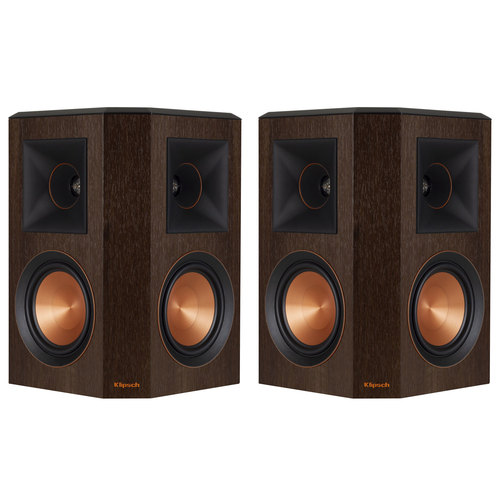 Klipsch RP-502S Reference Premiere Surround Speakers, Pair (Walnut) - Renewed