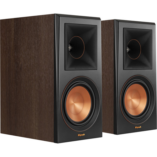 Klipsch RP-600M Reference Premier 6.5` 2-Way Bookshelf Speaker, Pair (Walnut) - Renewed