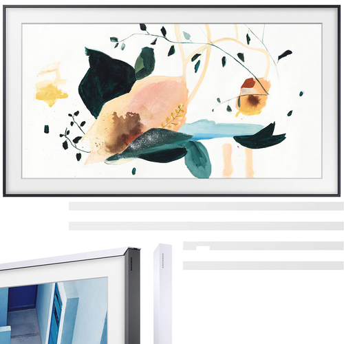 Samsung QN32LS03TB The Frame 3.0 32` QLED Smart TV (2020) Customizable Bezel, White