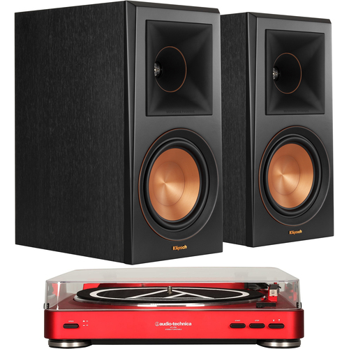 Klipsch RP-600M Reference Premiere Bookshelf Speakers + Audio Technica AT-LP60 Turntable