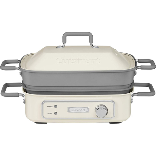 Cuisinart GR-M3 STACK5 Multifunctional Grill - Off-White