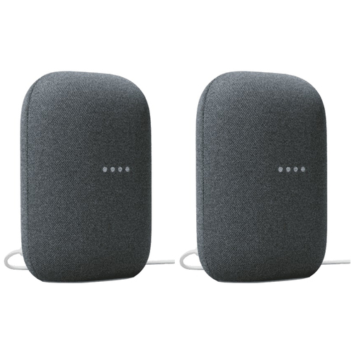 2 Pack Google Nest Audio Smart Speaker Bundle