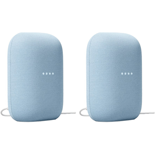 Google GA01588-US Nest Audio Smart Speaker Sky (2-Pack)