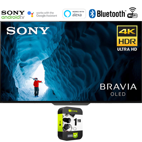 Sony XBR65A8F 65` 4K UHD Smart BRAVIA OLED TV 2018 (Renewed) + 1 Year Protection Plan