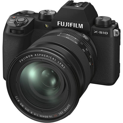 Fujifilm X-S10 Mirrorless Digital Camera with XF 16-80mm F4 R OIS WR Lens Kit 16670077