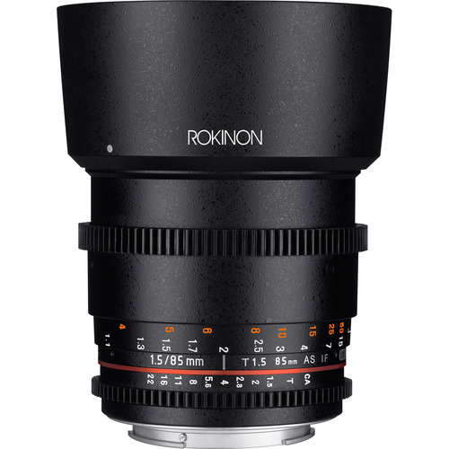 Rokinon DS 85mm T1.5 Full Frame Cine Lens for Sony E Mount