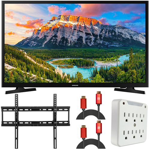 Samsung UN32N5300AFXZA 32` 1080p Smart LED TV (2018), Black (Renewed) + Wall Mount Kit