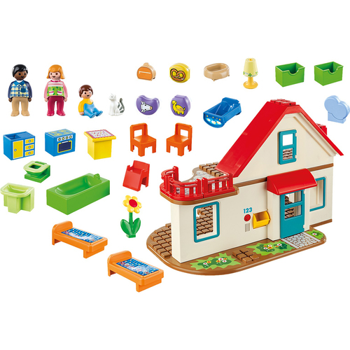 Playmobile Single Family Home with Figures - (70129)