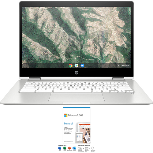 Hewlett Packard Chromebook X360 12` Intel Celeron 4GB Touch Laptop + Office 365