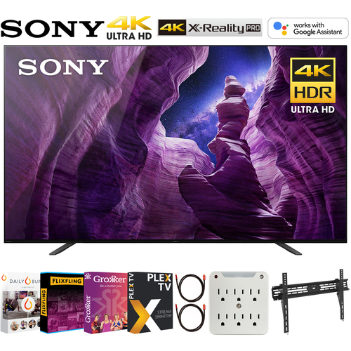 Sony XBR65A8H 65-inch A8H 4K OLED Smart TV (2020) + Movies Streaming Pack