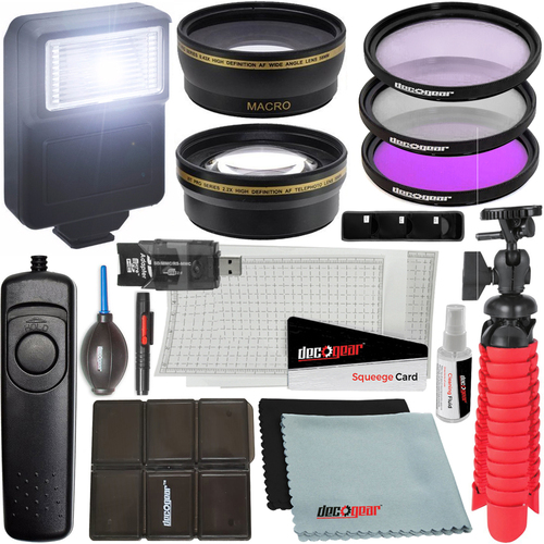 58mm Wide Angle & Telephoto Lens, 58mm UV, Polarizer & FLD Filter kit and More