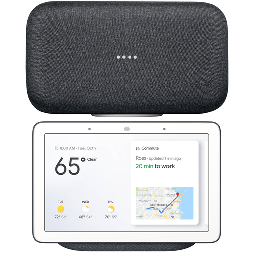 Google Home Max Wireless Streaming Audio Smart Speaker (Charcoal) + Google Nest Hub with Google Assistant (GA00515-US)