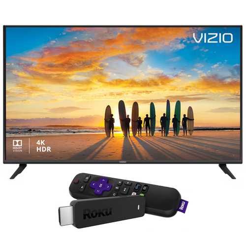 Vizio V-Series 58` Full Array LED Smart TV Refurbished with Roku Streaming Stick