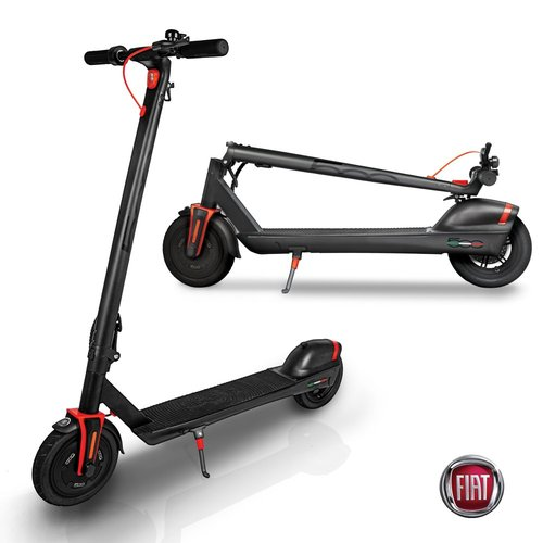 Fiat 3-Speed Portable Folding Electric Scooter 350W Motor (Black)