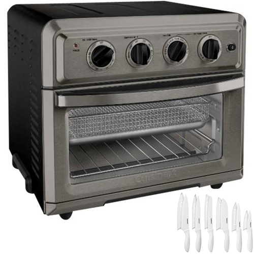 Cuisinart Convection Toaster Oven Air Fryer w/ Light Black Stainless + Knife Set