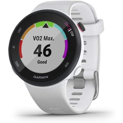 Garmin Forerunner 45 GPS Heart Rate Monitor Running Smartwatch White Refurbished