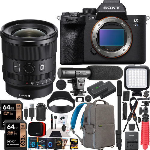 Sony a7S III Mirrorless Full Frame Camera Body + 20mm F1.8 Lens SEL20F18G Kit Bundle