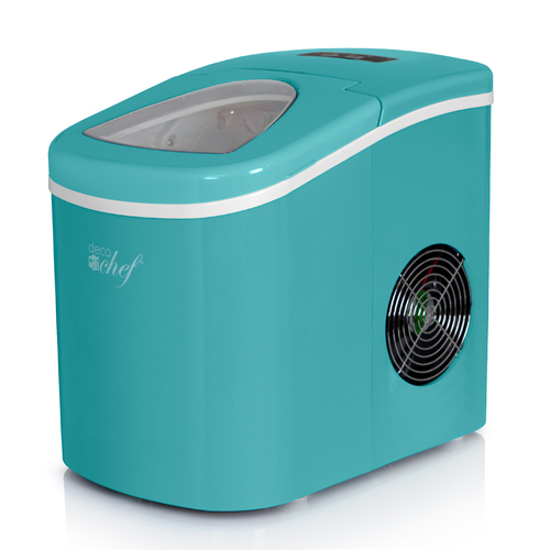 Deco Chef Turquoise Compact Electric Ice Maker | (IMTQA) | Top Load | 26 Lbs Per Day
