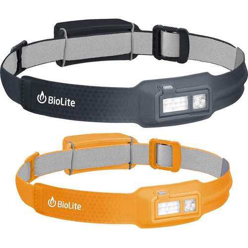 BioLite HeadLamp 330 Lumen No-Bounce Rechargeable Head Light Grey + Head Light