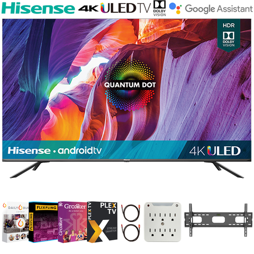 Hisense 55` H8G Quantum Series 4K ULED Smart TV 2020 + Movies Streaming Pack