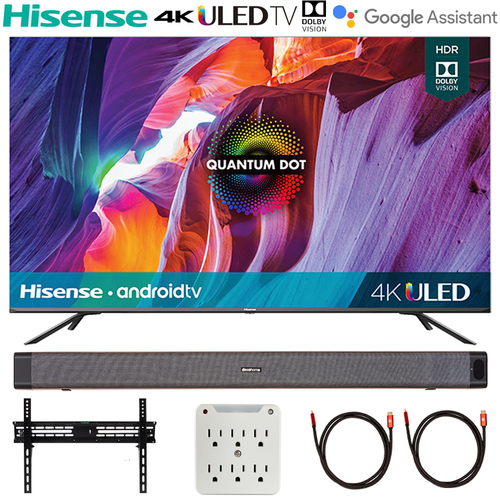 Hisense 55` H8G Quantum Series 4K ULED Smart TV (2020) w/ Deco Soundbar Bundle