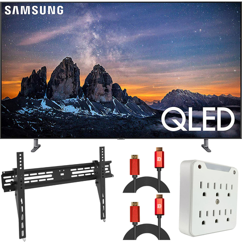 Samsung 65` Q80 QLED Smart 4K UHD TV (2019) QN65Q80RA (Renewed) + Wall Mount Kit