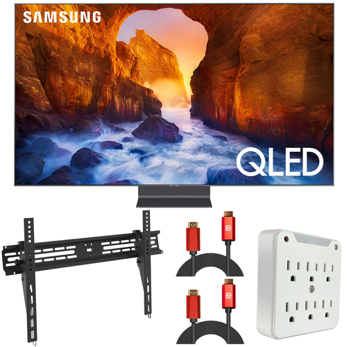 Samsung 65` Q90 QLED Smart 4K UHD TV (2019) QN65Q90RA (Renewed) + Wall Mount Kit