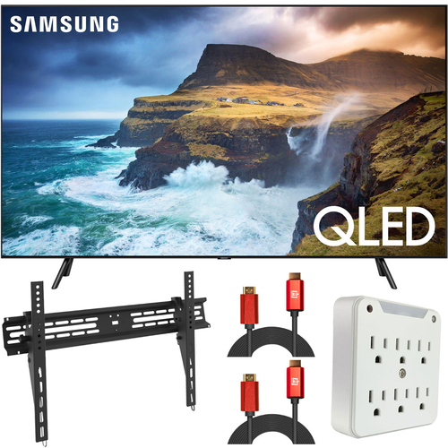 Samsung 75` Q70 QLED Smart 4K UHD TV (2019) QN75Q70RA (Renewed)  + Wall Mount Kit