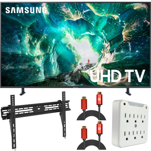 Samsung UN65RU8000 65` RU8000 LED Smart 4K UHD TV (2019) (Renewed) + Wall Mount Kit