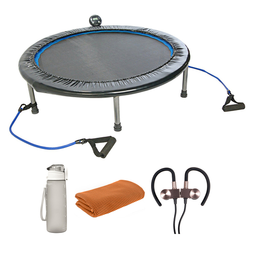 Stamina 35-1632 InTone Plus 38 Inch Rebounder Trampoline with Fitness Bundle