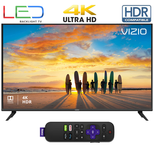 Vizio V505G9 V-Series 50` 4K HDR Smart TV (Renewed) with Roku Streaming Stick